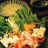 野菜たっぷり鶏すき鍋