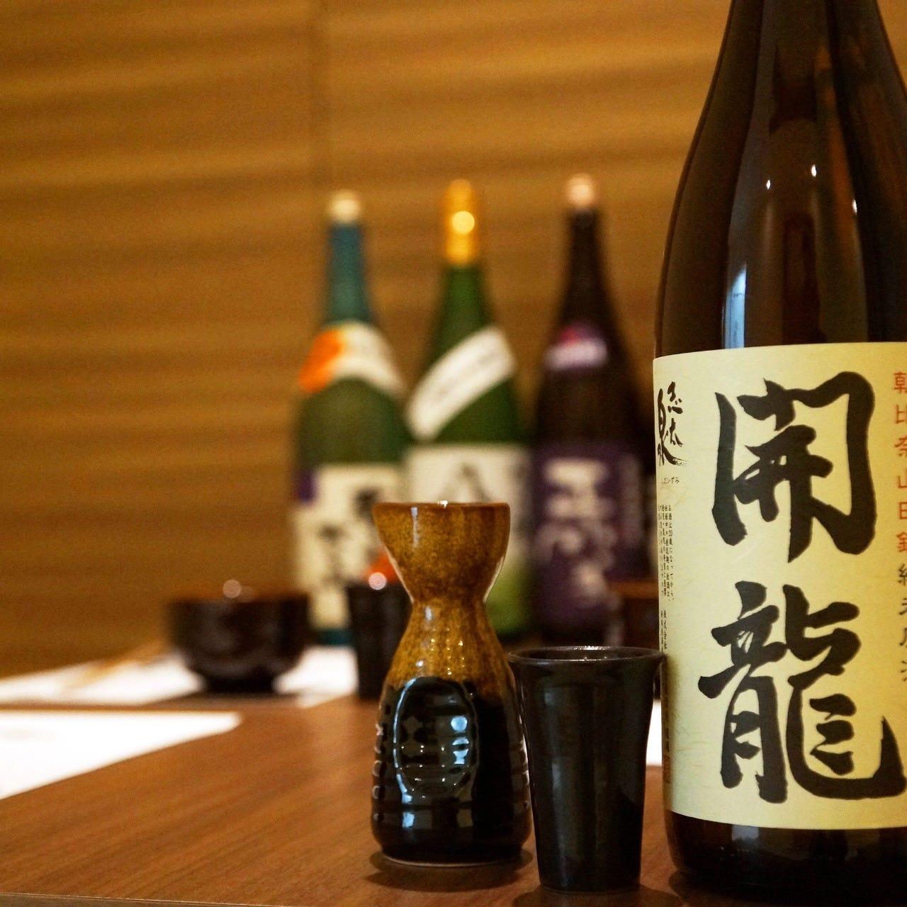 静岡の地酒を豊富にご用意。 お好みの一杯をぜひお探しください