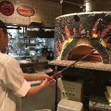 石窯で焼き上げる熱々ナポリピッツァ