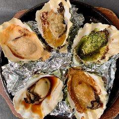 焼き牡蠣5種盛り合せ