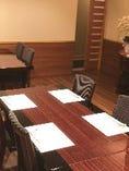椅子テーブル個室 ご両家顔の合わせやご接待に。