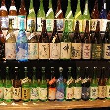 地酒は常備15種以上ご用意!