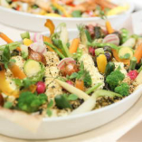 『彩り野菜の温製料理』