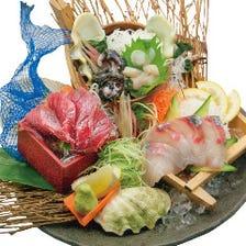 活きのいい魚介をコース料理で☆