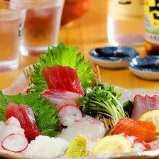 ◆新鮮な鮮魚を刺身でどうぞ