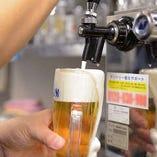 超達人店の認定を受けた当店の生ビールは「美味しい!」と大好評★きめ細かくクリーミーな泡をお楽しみください
