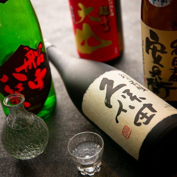 日本酒や焼酎の種類も豊富です