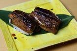 焼き立てとろける穴子の握り寿司