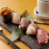 握り寿司板長お任せ五種盛り