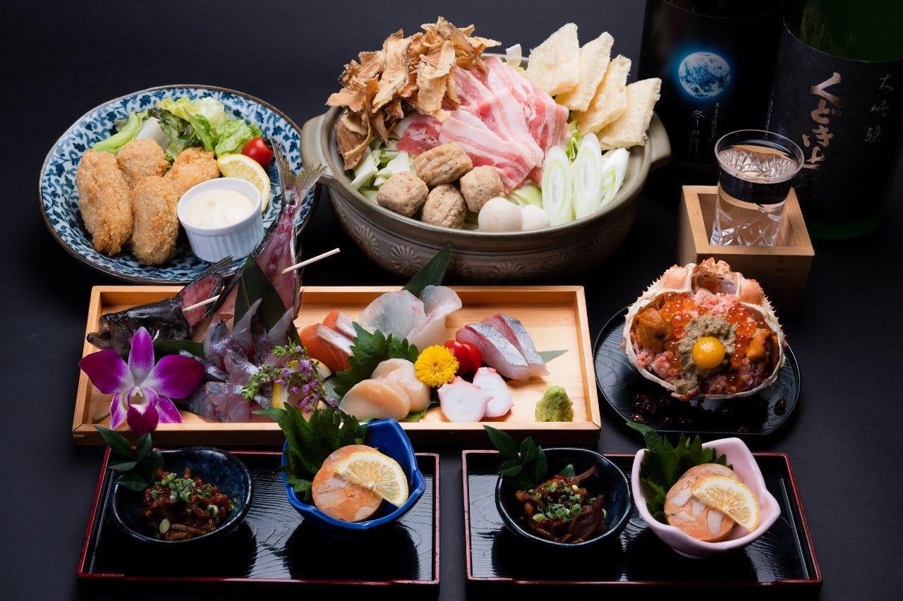絶品タマクエのアラ鍋コース 飲放題120分 6000円(税込) 個室