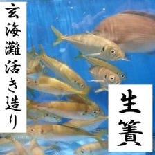 毎日仕入れる!活魚の活き造り・鮮魚