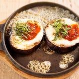 蒸し焼き茄子 ~トマト味噌チーズ~