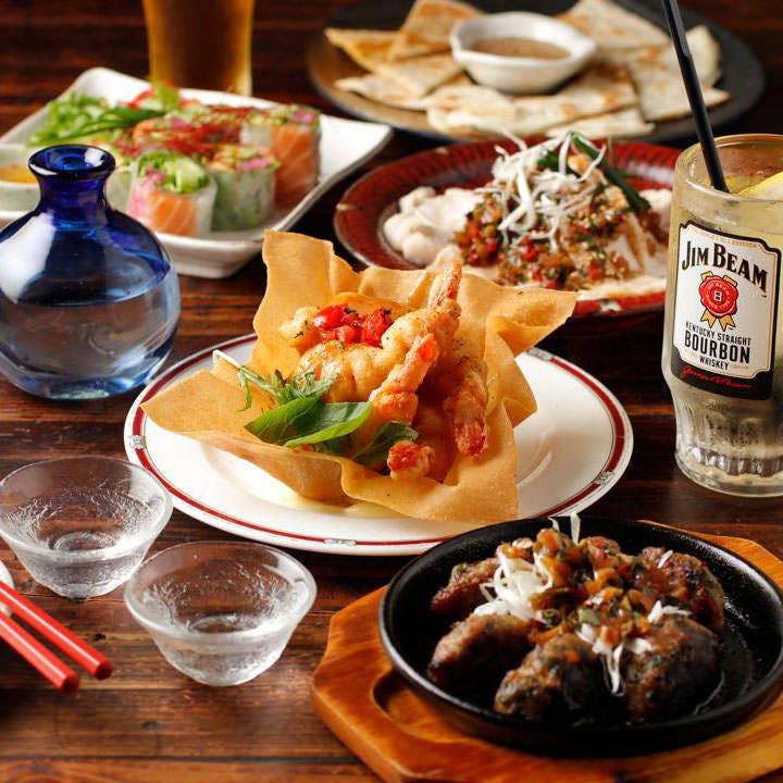 多国籍な料理を堪能!飲み放題コース