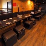4~16名様 テーブル席人数にあわせてレイアウトは自由自在