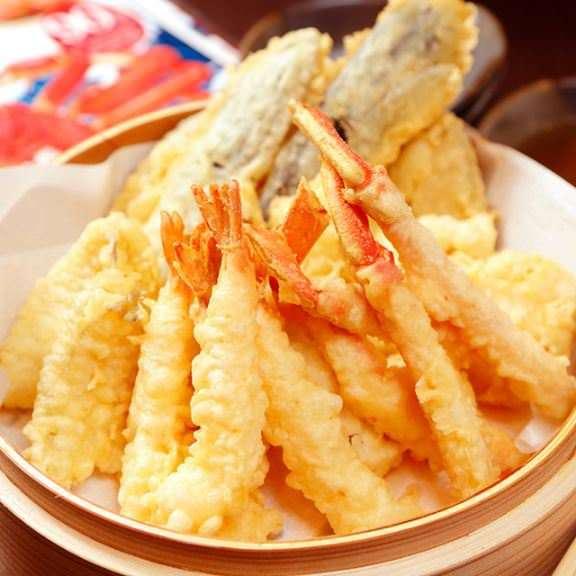 天ぷら、焼肉など蟹以外の料理も充実