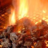 名物 鶏もも炭火焼き