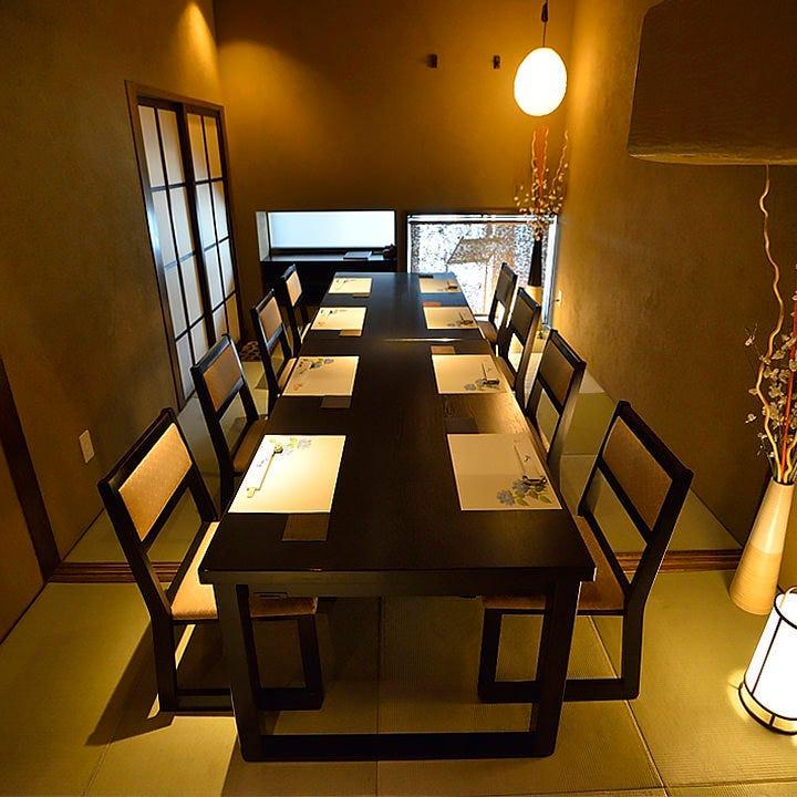 テーブルタイプの座敷個室を多数完備。大切な方と優雅なひと時を