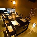 ご会食や大人数のご接待にお勧めの個室【8名様~12名様】