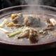 名物スッポン鍋  高温で焚くさっぱりとした特有の上品な味わい