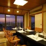 ホテル最上階15Fからの眺めが楽しめる「宝満の間」