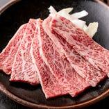 黒毛和牛の見事なサシと脂身のバランスで美味さ際立つ「黒毛和牛カルビ」