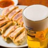 ビールと餃子の黄金コンビ!お仕事帰りの一杯はいかが♪