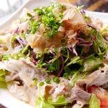 豚しゃぶとゆしどうふのサラダ