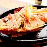 本日獲れたて!近港からの県産魚一本料理(バター醤油/ポン酢唐揚げ)