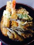 ボリュームあり!ミックス天丼(地魚多目、海老1本、野菜)テイクアウト、店内価格1000円
