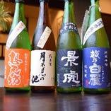 日本酒もございます。お酒を楽しんでいただいた後は〆にそばを。