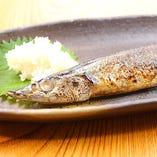 根室産 秋刀魚の一本焼き