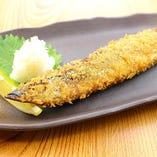 根室産 秋刀魚の一本揚げ