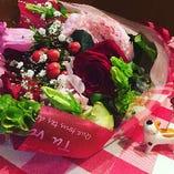 お祝い事に花束のご準備もお手伝いします!