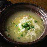 比内地鶏の白濁スープ