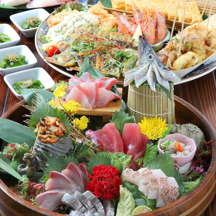お造りからお寿司まで!鮮魚を堪能!