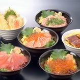 海鮮丼(天ぷら付)