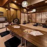 京橋店・2F座敷席 レトロな雰囲気で落ち着く空間