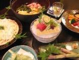 山菜鍋パーティー 季節料理例