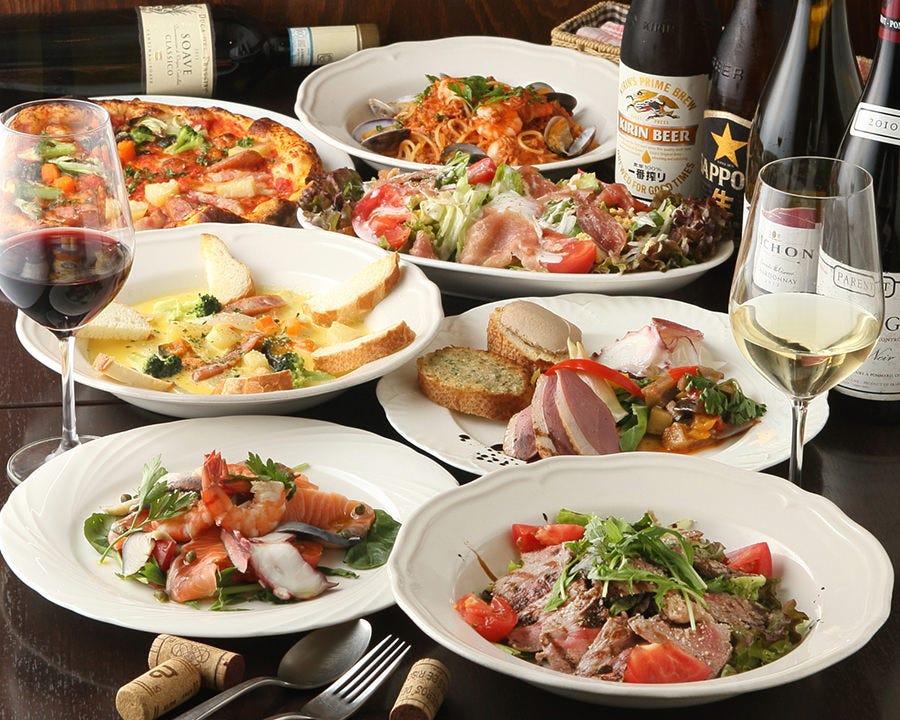 パスタやピッツァが食べ放題!ご宴会コース