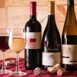料理の美味しさをより一層深めるワインは常時約20種!コスパも抜群