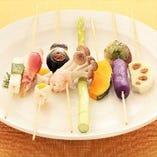◆厳選された旬野菜を串カツに◆野菜串や創作串で!!【厳選素材】