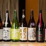 旬の日本酒を「今週の日本酒」として毎週8種類を揃えています。