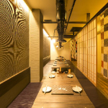 【掘りごたつ個室】当店1番の大広間。一体感ある空間で会話もはずむ(30名席×1部屋)