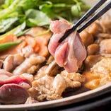 風味と歯ごたえ、共に絶品な「近江しゃも」。その魅力を堪能するなら、まずは「五鉄鍋」をどうぞ