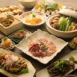 京赤地どりの水炊きと、淡海地鶏や油淋鶏、出汁巻きも満喫できる宴会コースも