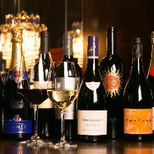 ソムリエによる厳選ワインの数々
