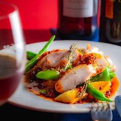 若鶏のポルチーニ茸の赤ワイン煮