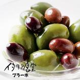3種のオリーブ盛り合わせ