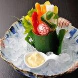 野菜スティックサラダ (みそ風味マヨネーズ)