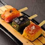 京の麩三種田楽